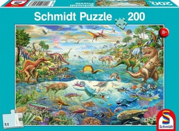 Schmidt Puzzle-Entdecke die Dinosaurier, 200 db