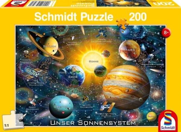 Schmidt Puzzle-Our solar system, 200 db