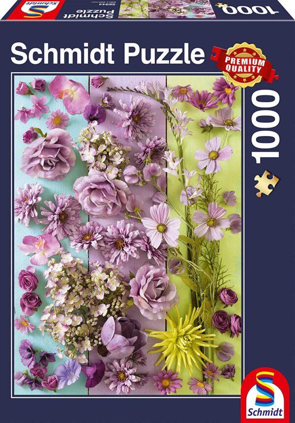 Schmidt Puzzle-Violet blossoms, 1000 db