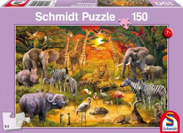 Schmidt Puzzle-Afrika állatai, 150 db