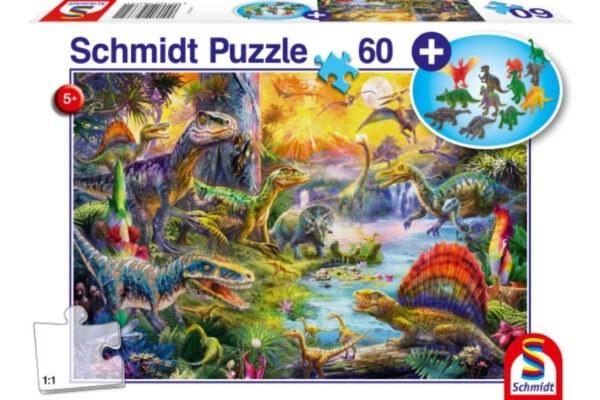 Schmidt Puzzle-Dinosaurs set of figurines 60 db