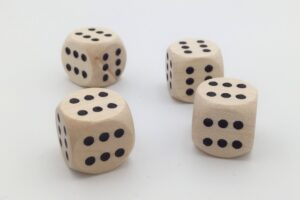 Csupa 6-os dobókocka