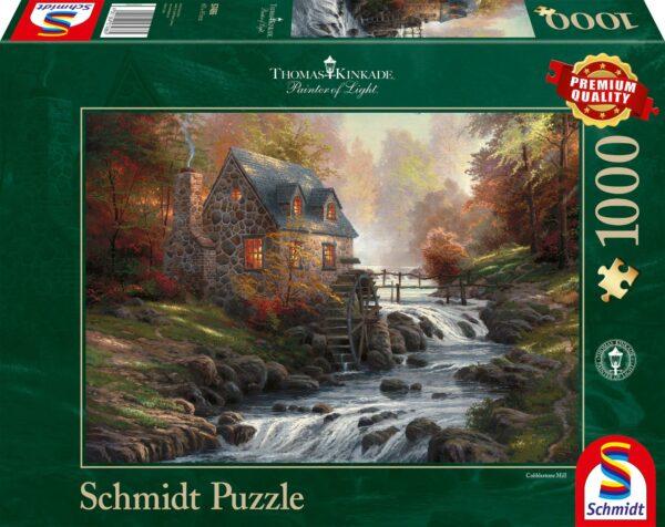 Schmidt Puzzle - Cobblestone Mill, Thomas Kinkade, 1000 db