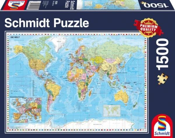 Schmidt Puzzle - The World, 1500 db
