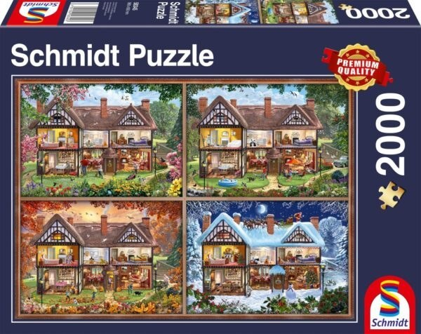 Schmidt Puzzle - House of four seasons, 2000 db