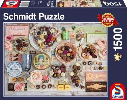 Schmidt Puzzle - Nostalgic chocolates, 1500 db