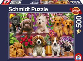 Schmidt Puzzle – Dog in the shelves 500 db