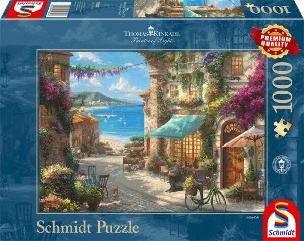 Schmidt Puzzle - Café an der italienischen Riviera 1000 db
