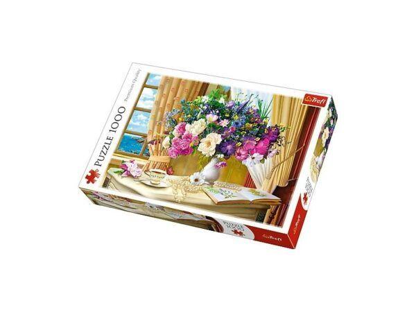 Trefl Puzzle - Virágok reggel 1000 db