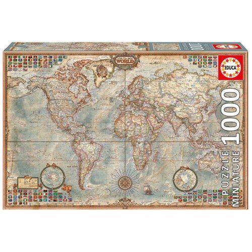 Educa Puzzle Miniature - Politikai világtérkép 1000 db