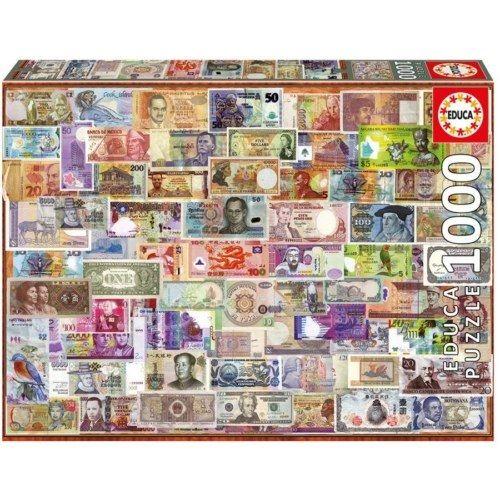 Educa Puzzle - A világ bankjegyei 1000 db