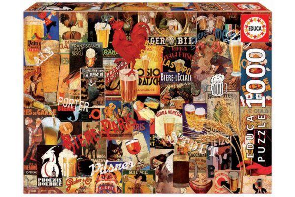 Educa Puzzle - Vintage sörös plakátok 1000 db