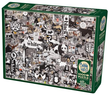 Cobble Hill Puzzle - Black & White Animals 1000 db