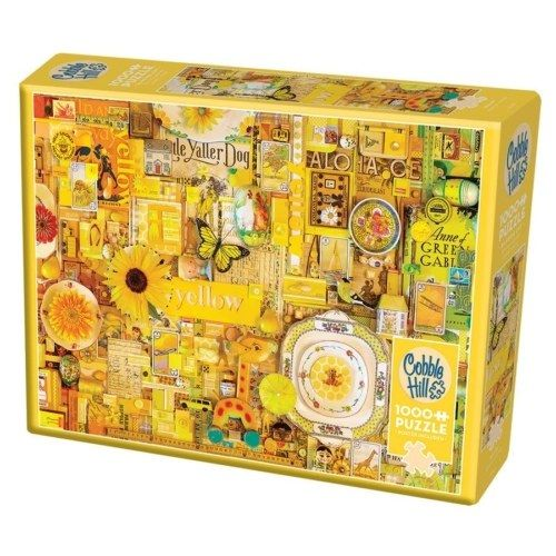 80148 cobble hill puzzle 1000 yellow 1