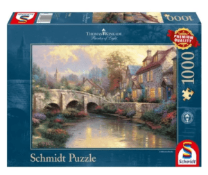 Schmidt Puzzle – Cobblestone Brooke, Thomas Kinkade, 1000 db