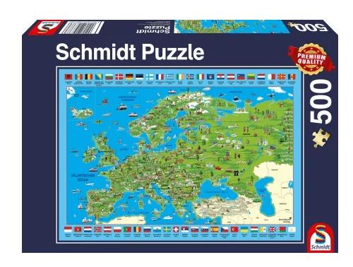 Schmidt Puzzle – Europa entdecken 500 db