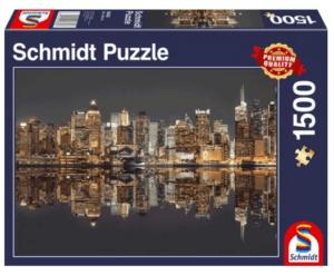 Schmidt Puzzle – New York Skyline bei Nacht 1500 db