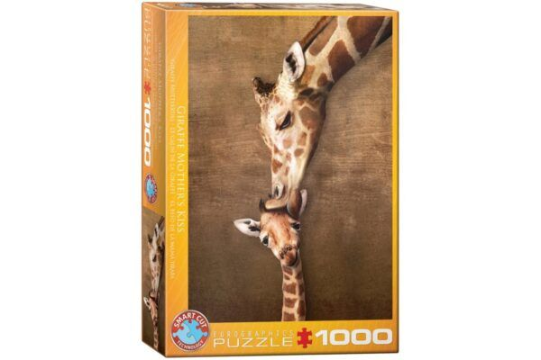 EuroGraphics Puzzle- Giraffe mother's kiss 1000 db