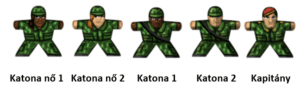 Katonák matrica