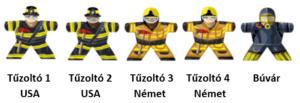 Tűzoltók matrica