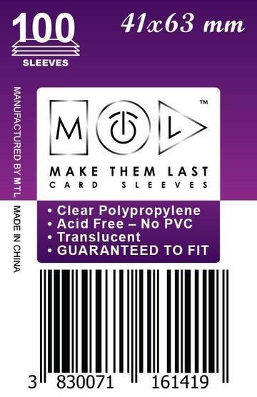 MTL 41x63 mm 100 db kártyavédő