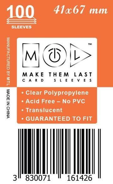 MTL 41x67 mm 100 db kártyavédő