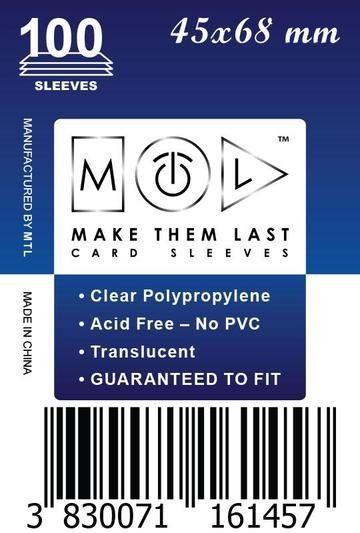 MTL 45x68 mm 100 db kártyavédő