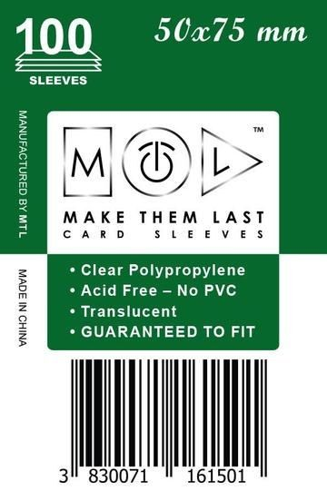 MTL 50x75 mm 100 db kártyavédő