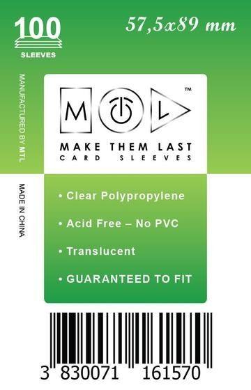 MTL 57,5x89 mm 100 db kártyavédő