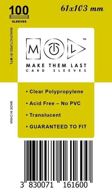 MTL 61x103 mm 100 db kártyavédő