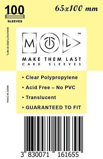 MTL 65x100 mm 100 db kártyavédő