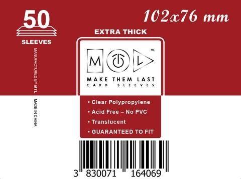 MTL 102x76 mm 50 db kártyavédő Prémium