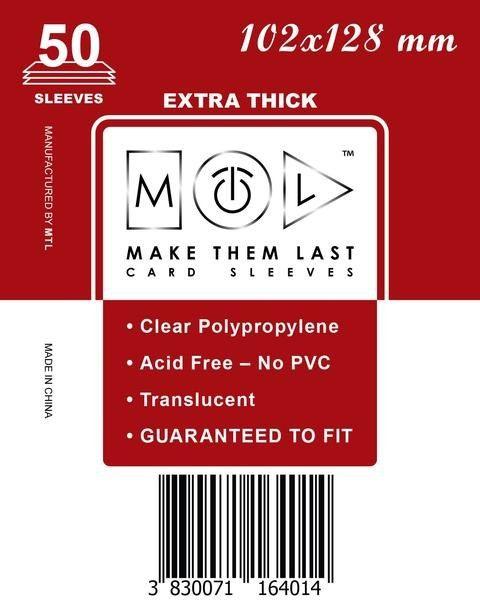 MTL 102x128 mm 50 db kártyavédő Prémium