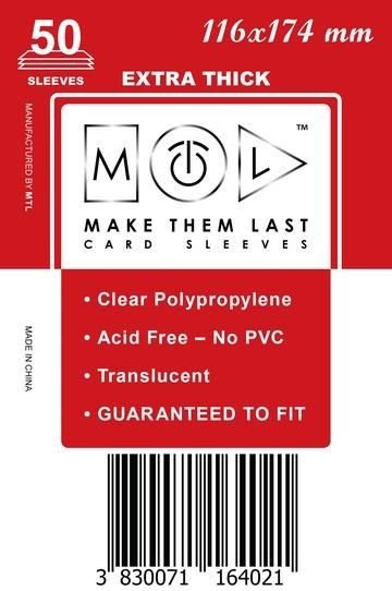 MTL 116x174 mm 50 db kártyavédő Prémium