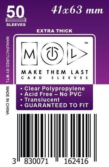 MTL 41x63 mm 50 db kártyavédő Prémium