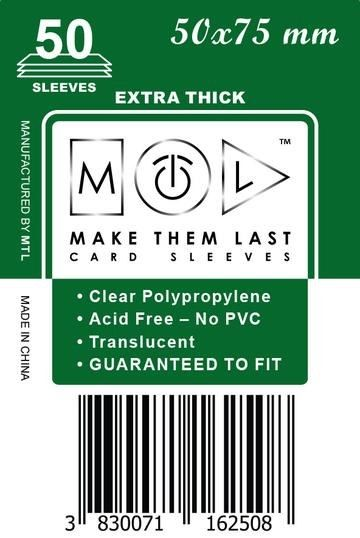 MTL 50x75 mm 50 db kártyavédő Prémium