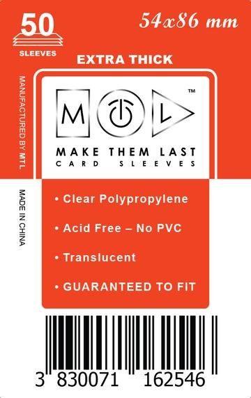 MTL 54x86 mm 50 db kártyavédő Prémium