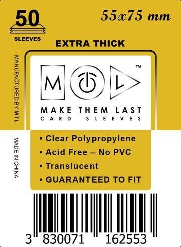 MTL 55x75 mm 50 db kártyavédő Prémium