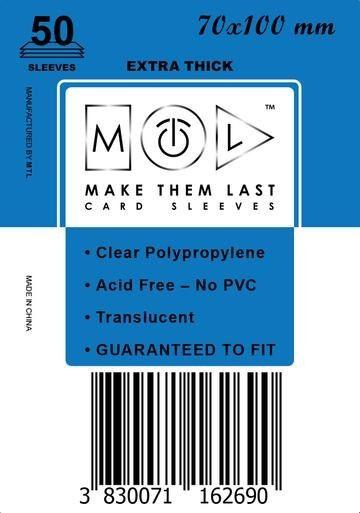 MTL 70x100 mm 50 db kártyavédő Prémium
