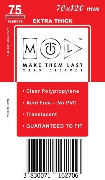 MTL 70x120 mm 75 db kártyavédő Prémium