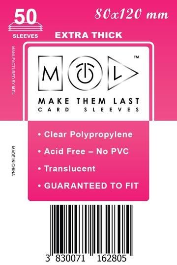 MTL 80x120 mm 50 db kártyavédő Prémium