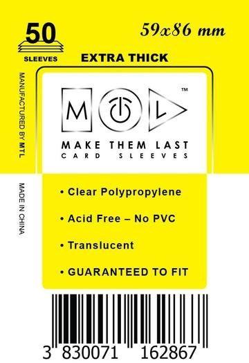 MTL 59x86 mm 50 db kártyavédő Prémium