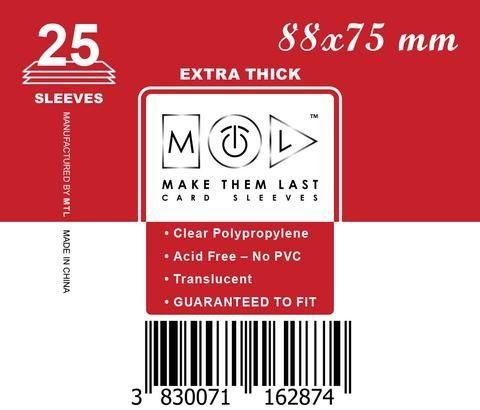 MTL 88x75 mm 25 db kártyavédő Prémium