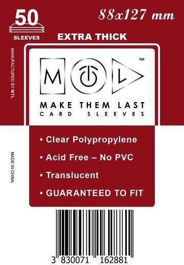 MTL 88x127 mm 50 db kártyavédő Prémium