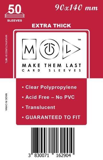 MTL 90x140 mm 50 db kártyavédő Prémium