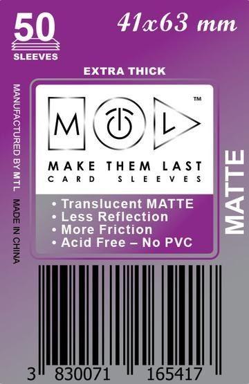 MTL 41x63 mm 50 db kártyavédő Prémium MATT