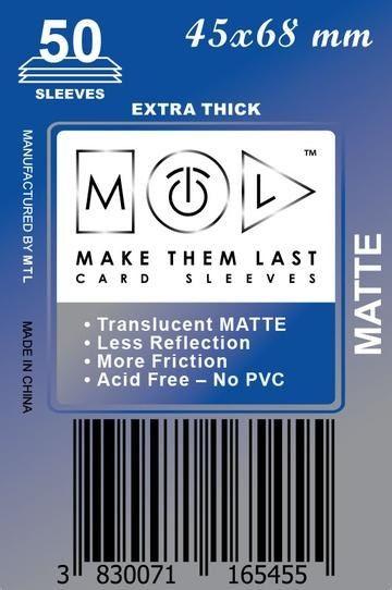 MTL 45x68 mm 50 db kártyavédő Prémium MATT