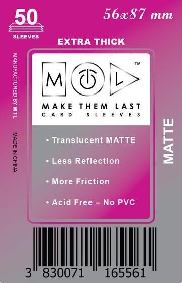 MTL 56x87 mm 50 db kártyavédő Premium MATT