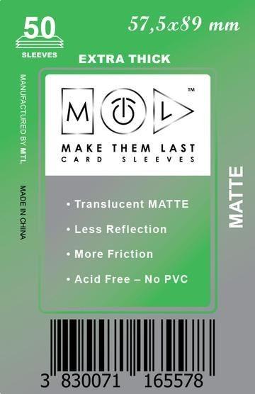 MTL 57,5x89 mm 50 db kártyavédő Prémium MATT