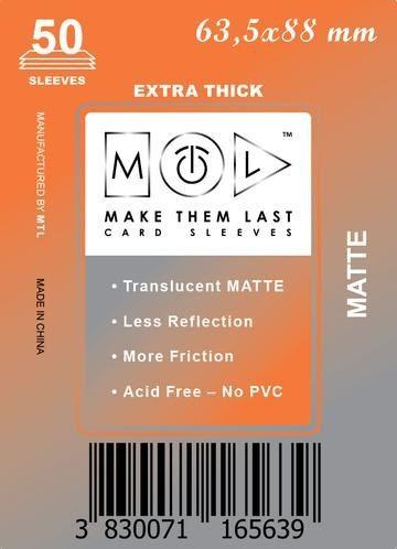 MTL 63,5x88 mm 50 db kártyavédő Prémium MATT